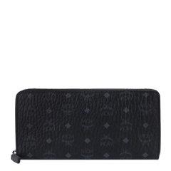 【包税】MCM 男士黑色经典LOGO图案印花长款钱包卡包零钱包男包 MXLAAVI01BK图片