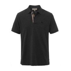 【大陆现货秒发】爆款主推 专柜同款 纯棉黑色男士短袖Polo衫 BURBERRY/博柏利 巴宝莉 burberry 男士短POLO图片
