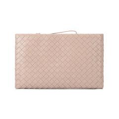 【国内现货】Bottega Veneta/葆蝶家 女士羊皮POUCH编织手拿包文件包 608249 VCPP1图片