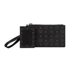 【国内现货】MCM/MCM奢侈品中性VisetosOringinal黑色皮革拼接迷你多功能手拿包手拎包配卡包MXZAAVI06BK001图片