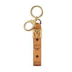 【国内现货】MCM/MCM中性礼盒装三色拼色人造革钥匙扣弹簧扣钥匙环包包挂饰MXZBSVI06WT001图片