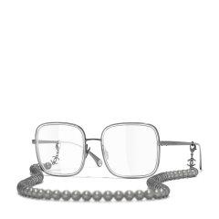 【爆款主推 国内现货】CHANEL/香奈儿 新款珍珠链条 香奈儿眼镜框 Chanel时尚平光近视方框眼镜架女 型号CH2195图片