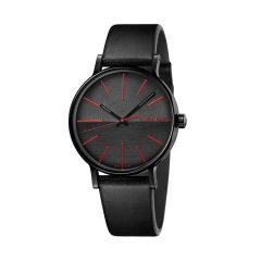 Calvin Klein/卡尔文·克莱因 boost迸发系列皮带黑盘手表瑞士男表 K7Y214CY图片