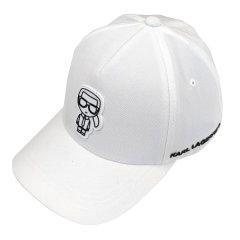 KARL LAGERFELD/卡尔·拉格斐  帽子 男女同款白色微标印花饰棒球帽鸭舌帽【爆款主推现货】图片