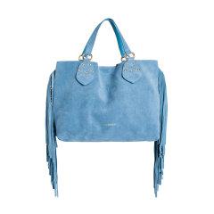 TWINSET/TWINSET 女士纯色麂皮铆钉流苏装饰时尚简约手提包手拎包女包 OS8TFP 多色可选图片