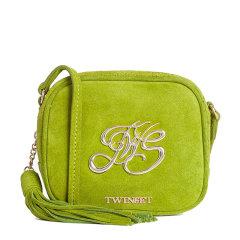 TWINSET/TWINSET 女士纯色皮革经典字母徽标装饰流苏吊饰单肩包斜挎包女包 OS8TEB 多色可选图片