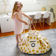 PLAY POUCH/普澳乐.博驰 部落儿童/蜜粉蜂巢/玩具熊/闪亮金色/本色部落玩具袋垫袋合一图片