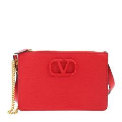 Valentino/华伦天奴 女士纯色粒面皮革VLOGO单肩包斜挎包女包 UW2P0T48-RQR图片