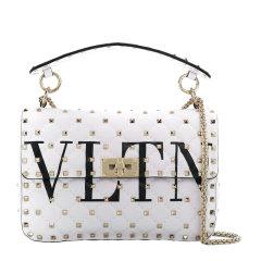 Valentino/华伦天奴 女士纯色羊皮经典字母徽标印花铆钉装饰单肩包斜挎包手提包女包 RW2B0122-XQC 多色可选图片