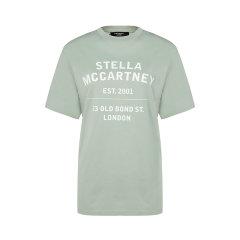【21春夏新品国内现货】Stella McCartney/丝黛拉麦卡妮 棉质圆领字母印花装饰女士短袖T恤图片