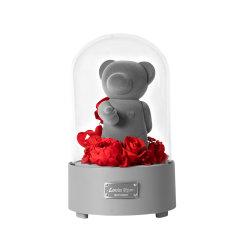JoyFlower520情人节礼物进口永生花礼盒生日礼物给你比心蓝牙音箱图片