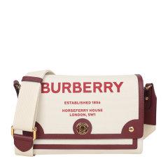 BURBERRY/博柏利  女士牛皮Vintage格纹拼皮革Note斜背包单肩斜挎包图片