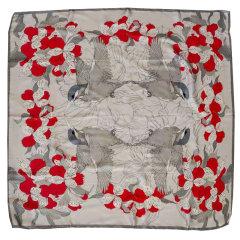 【2021春夏新款】DK UGG/DK UGG 丝巾 时尚人造真丝几何百搭图案方形丝巾DW309图片