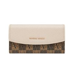(杏色 预计7月24日发货)VH新款钱包VANESSA HOGAN/VANESSA HOGAN 女小众设计长款PVC多功能钱夹皮夹复古手包小包包零钱包图片