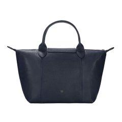 【国内现货秒发】Longchamp/珑骧女士LEPLIAGECUIR系列海军蓝色皮质手提单肩包小号饺子包图片