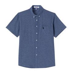 U.S.POLOASSN./U.S.POLOASSN.美国马球协会21年夏季男短袖上衣休闲单色男士短袖衬衫图片