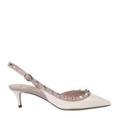 【现货免税】Valentino/华伦天奴  漆皮铆钉尖头细带女士高跟凉鞋 VW2S0H14 VNW图片