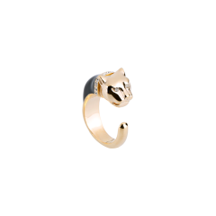 【2021春夏新款 7色可选】Polina Firenze/Polina Firenze意大利高级时尚配饰 豹系列 手工搪瓷戒指 情侣戒指 开口男女同款 生日礼物图片