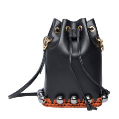 FENDI/芬迪 MonTresor系列 女士牛皮珠珠装饰时尚单肩斜挎包水桶包图片
