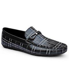 波士威尔 男鞋青年时尚潮流豆豆鞋 百搭一脚蹬皮鞋 软底单鞋 男真皮大码图片
