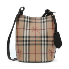 【包税】BURBERRY/博柏利 女士格纹单肩水桶包 40571581图片