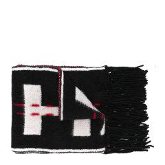 OFF-WHITE/OFF-WHITE 女士拼色羊毛混纺经典字母徽标嵌花针织流苏饰边工业风披肩围脖围巾 OWMA009E18553050 多色可选图片