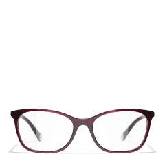 【预售】CHANEL/香奈儿 21年新款Chanel香奈儿眼镜框女平光素颜板材近视光学眼镜架CH3414图片