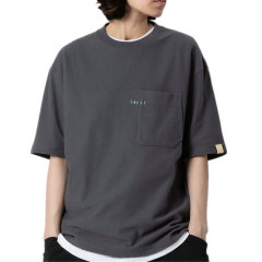 TMCAZ/TMCAZ 黑/白/藏青/浅灰/炭灰/橄榄绿6色 21年春夏新款双层口袋短袖小领口廓形宽松通勤女士男士短袖T恤Cityboy图片