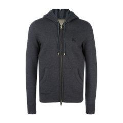 BURBERRY/博柏利  男士外套 拉链开衫 经典卫衣帽衫加绒款黑色外套4015558图片