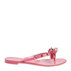 【现货免税】Valentino/华伦天奴   经典铆钉蝴蝶结夹脚人字拖鞋 PW2S0552PVS图片