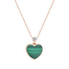 GZUAN/古钻珠宝 心愿 18K金红玛瑙钻石女士项链套链 D1861/D1862/D1863图片