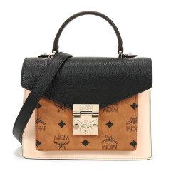 MCM 女士小号牛皮革LOGO印花拼色翻盖斜挎包手提包 MWEAAPA05多色可选图片