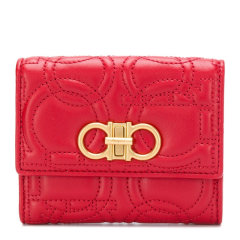 【包邮包税】Salvatore Ferragamo/菲拉格慕 女士皮革短款钱包手拿包女包 22D339多色可选(99新未使用)图片