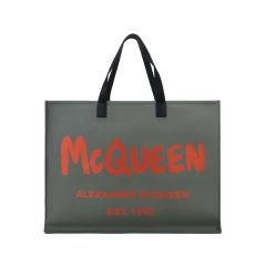 【国内现货】Alexander McQueen/亚历山大麦昆 2021款 男士聚酯纤维手提单肩包托特包 662865 1AABX图片