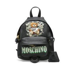MOSCHINO/莫斯奇诺 女士牛皮革时尚美金熊双肩包 2 T7637 821图片