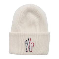 Moncler/蒙克莱 女士 毛皮徽标无檐小便帽毛线帽 女士帽子 9973810-A9251-034图片