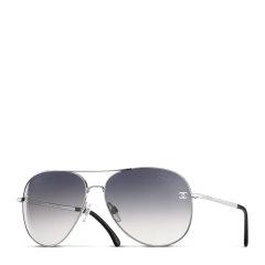 【包税】CHANEL/香奈儿 女士灰色渐变镜片银色框架飞行员太阳镜墨镜眼镜 CH4189TQ-C124S8-59图片