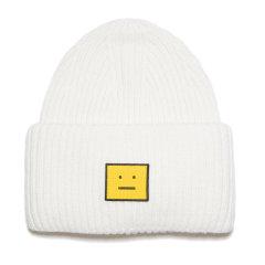 【包税】ACNE STUDIOS 21秋冬新款 男女通用黄色FACE标志的无檐羊毛针织帽(2色可选)FA-UX-HATS000103图片