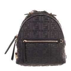 【包税】FENDI/芬迪 女士迷你皮革浮雕双肩包背包女包多色可选图片