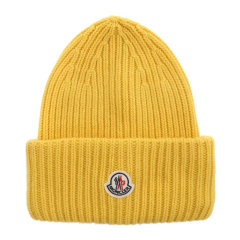 Moncler/蒙克莱 男士 黑色徽标无檐小便帽毛线帽 男士帽子 3B00048-M1127-999图片