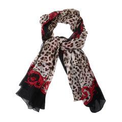 Dolce&Gabbana/杜嘉班纳围巾-女士豹纹印花+黑围巾/丝巾图片