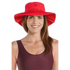 Coolibar 多国防晒机构认证 防氯防海水腐蚀 游泳海边度假必备 超宽帽檐女士遮阳帽 UPF50+图片