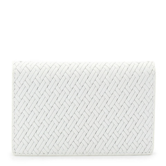 TAKEO KIKUCHI / 菊池武夫 男士牛皮〆编织折叠名片夹07001504图片