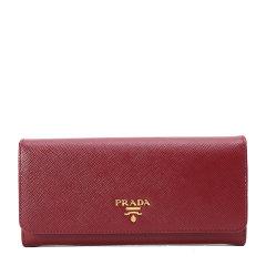 PRADA/普拉达 女士牛皮长款按扣钱包1MH132图片