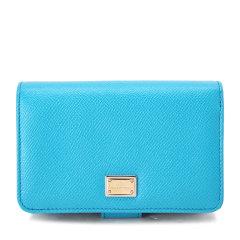 【可用劵】Dolce&Gabbana/杜嘉班纳小型皮具-女士蓝色牛皮皮票夹图片