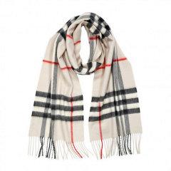 BURBERRY/博柏利 经典格纹羊绒围巾图片
