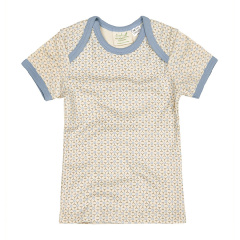 Sapling 灰色印花蓝边儿短袖T恤图片