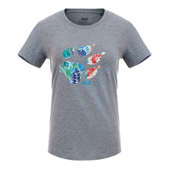 JACK WOLFSKIN/狼爪 16年春夏款女款大爪LOGO纯棉短袖T恤图片