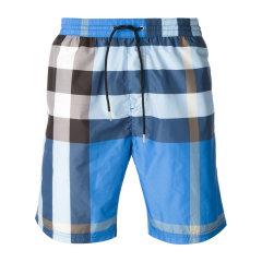 BURBERRY/博柏利 织物经典纹格样式男士短裤400545图片