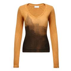 DIESEL/迪赛女士T恤-女士黄色T恤 材质:100棉图片